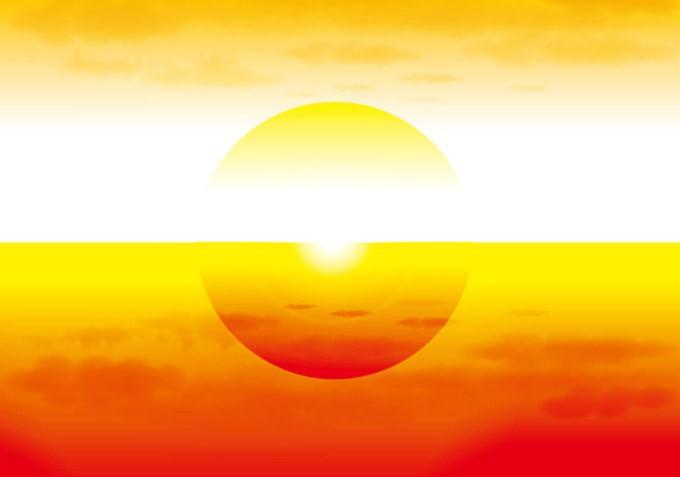 明石海峡大橋に沈む夕日